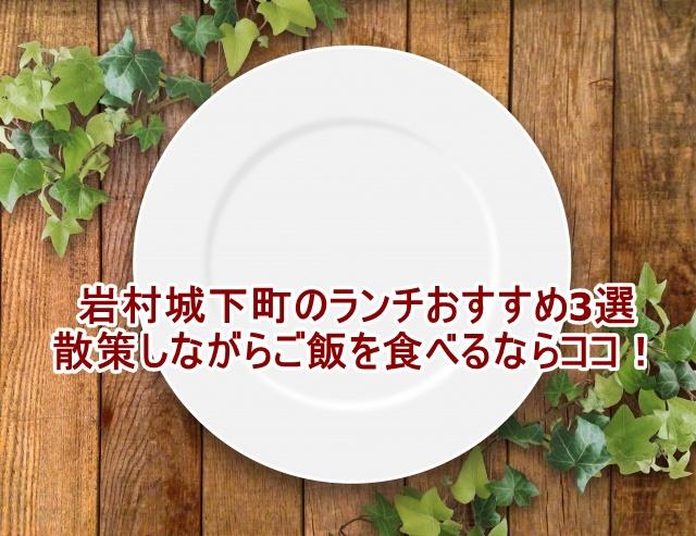 岩村城下町のランチおすすめ3選 散策しながらご飯を食べるならココ!