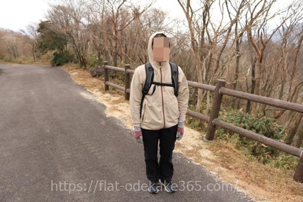 御在所ロープウェイの山頂に上ったときの服装の写真です
