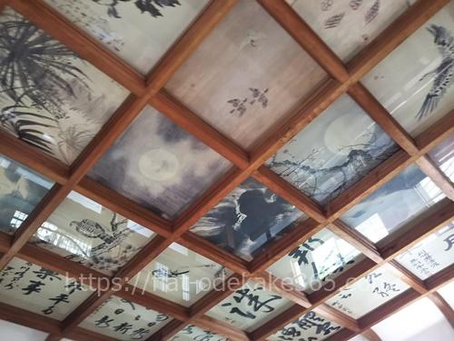 伊賀上野城の天井の写真
