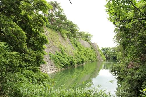 伊賀上野城の高垣の写真