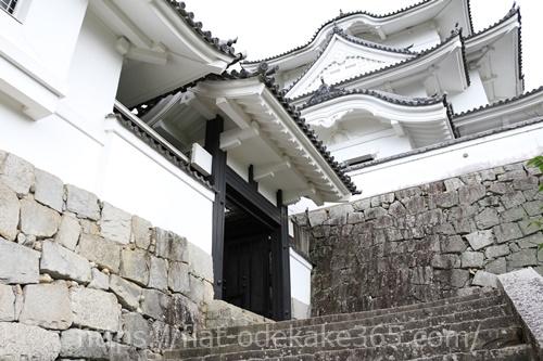 伊賀上野城の天守閣入り口の画像