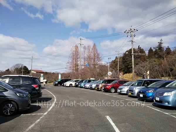 東谷山フルーツパークの駐車場の混雑具合