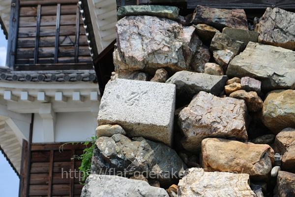 福知山城の天守閣の石垣