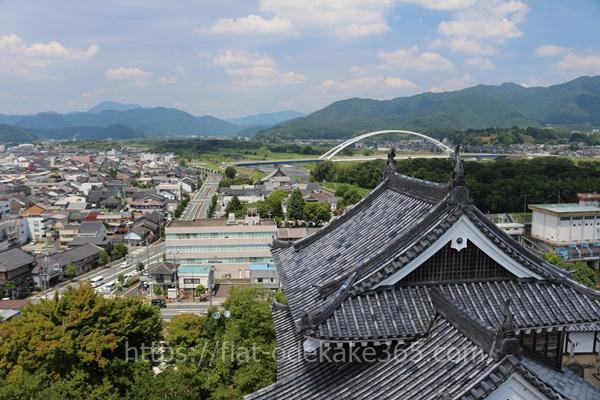 福知山城の天守閣からの眺め