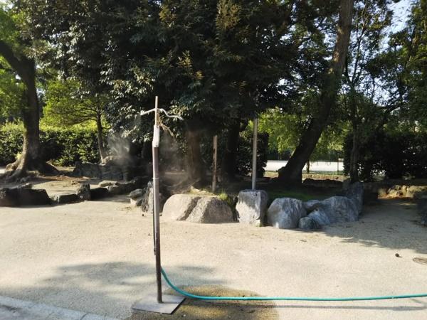 大垣公園のミスト