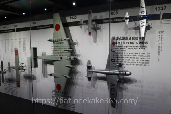 岐阜かかみがはら航空宇宙博物館の内部 歴史資料