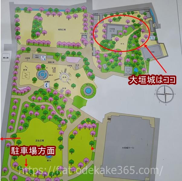 大垣公園の地図