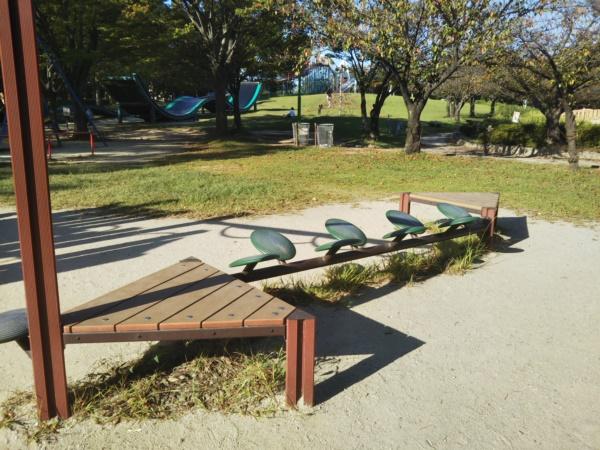 中部公園の大型遊具 平均台